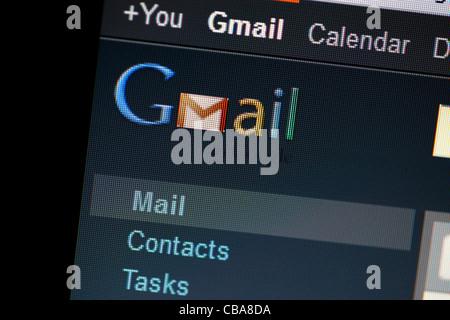 Screen shot of Gmail - Stock Photo