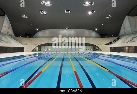 the swimming and diving arena at olympic village for th july 2012