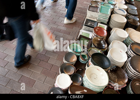 Kappabashi Dori, known as 'Kitchenware town', a street of shops selling many kitchen and restaurant products, Tokyo, - Stock Photo