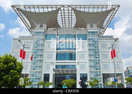 The Urban Planning Exhibition Center centre Shanghai  PRC, People's Republic of China, Asia - Stock Photo