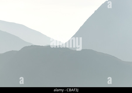 The Snowdon Massif, Snowdonia. - Stock Photo