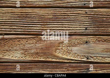 wood board wall detail with weathered wooden planks - Stock Photo