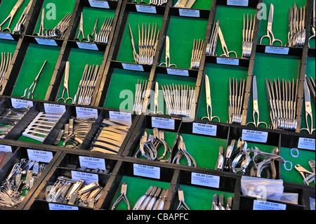 Racks of scissors - Stock Photo