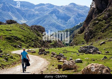 Fuente De in the Picos de Europa, Spain. - Stock Photo
