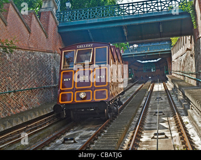 Castle Hill funicular Budapest, Hungary - Stock Photo