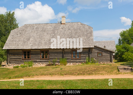 Householders house, Viktora Kirpa Ates museum, Ate, Annas Parish, Aluksne municipality, Latvia - Stock Photo