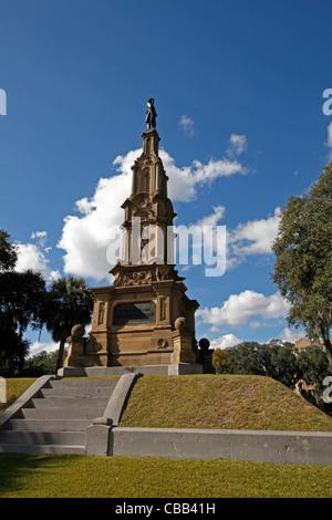 Confederate Memorial in Forsyth Park, Savannah Georgia - Stock Photo