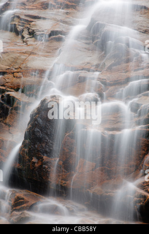 Crawford Notch State Park - Arethusa Falls during the late autumn months  in the White Mountains, New Hampshire - Stock Photo