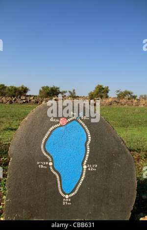 Israel, the Kinneret Trail around the Sea of Galilee - Stock Photo