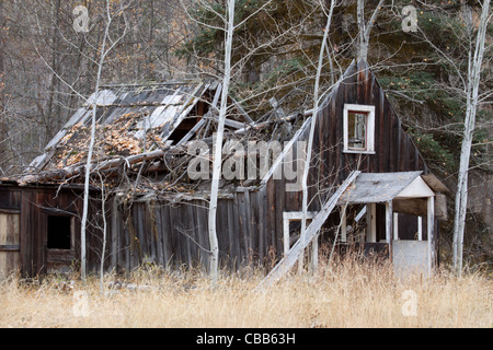 Old building, or ghost town building, or homestead building. - Stock Photo