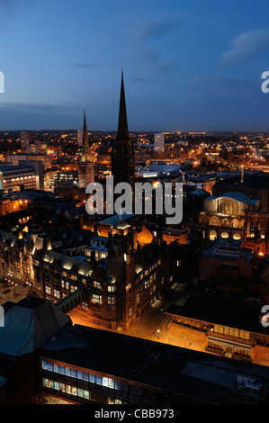 Coventry city centre at dusk - Stock Photo