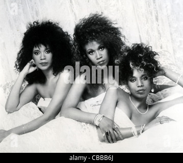 POINTER SISTERS promotional photo of US vocal trio from left: Anita, Ruth, June - Stock Photo