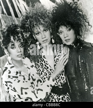 POINTER SISTERS promotional photo of US vocal trio from left: June, Ruth,Anita - Stock Photo