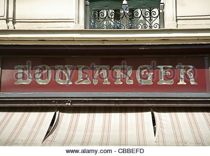 Boulanger sign on French street - Stock Photo