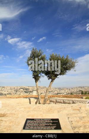 Israel, Lower Galilee, Mount Precipice overlooking Nazareth - Stock Photo