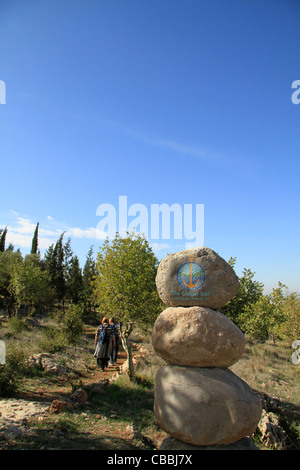 Israel, Lower Galilee, the Gospel Trail on Mount Precipice - Stock Photo