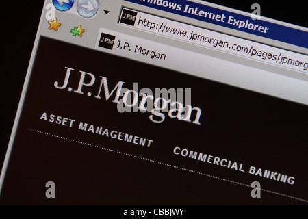 jp morgan jpmorgan jpmorgan.com website - Stock Photo
