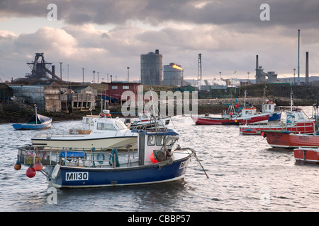 Tata Steel Works from Paddys Hole - Stock Photo