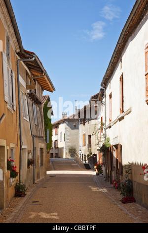 Pretty street in Saint Jean de Cole, Dordogne, France - Stock Photo