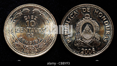 10 Centavos coin, Honduras, 2006 - Stock Photo