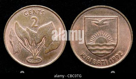 2 cents coin, Kiribati, 1992 - Stock Photo
