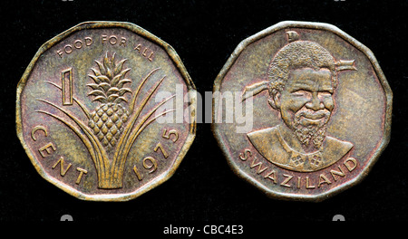 1 cent coin, Swaziland, 1975 - Stock Photo