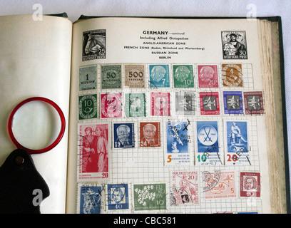 Old Stamp Album - Stock Photo