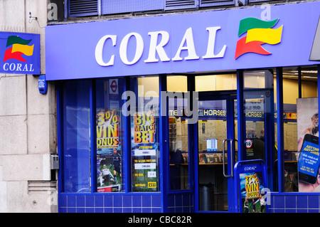 Coral Betting Shop, London, England, Uk - Stock Photo