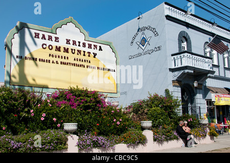 Hare Krishna Community Culver City California United States Los Angeles - Stock Photo
