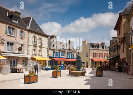 Concarneau, Brittany, France - the old town square - Stock Photo
