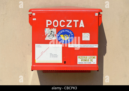 Poczta post box in Krakow - Stock Photo