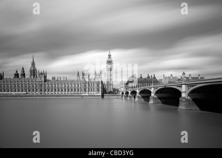 Parliament and Big Ben in London - Stock Photo