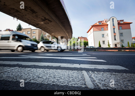 Illustrative pictures of people choosing alternative ways to reach their jobs in the moment of general traffic strike - Stock Photo