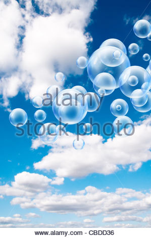 Bubbles in sky - Stock Photo