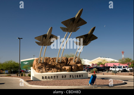 ARIZONA - Entrance to Pima Air and Space Museum in Tucson. - Stock Photo