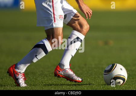 Landon Donovan of the USA on the ball during an international soccer friendly against Australia ahead of the 2010 - Stock Photo