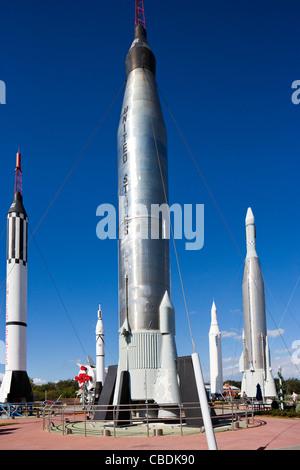 Mercury/Atlas rocket, The Rocket Garden, Kennedy Space Center Visitor Complex, Merritt Island, Florida, USA - Stock Photo