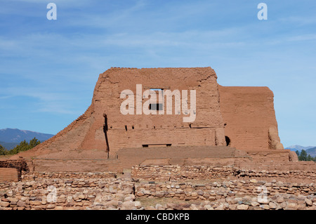 pecos national monument new mexico nm ruins pueblo register historic places san miguel county ruin historical - Stock Photo