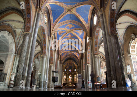 Nave of Chiesa di Santa Maria Sopra Minerva Church, Rome, Italy, Europe - Stock Photo
