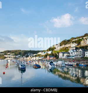 English seaside resort town on a warm summer day, with ...