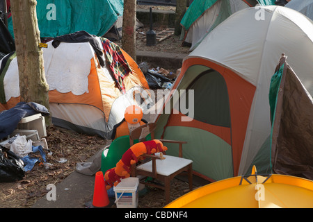Enc&ment of tents at Seattle Central Community College Seattle Washington USA - Stock Photo & Encampment of tents at Seattle Central Community College Seattle ...