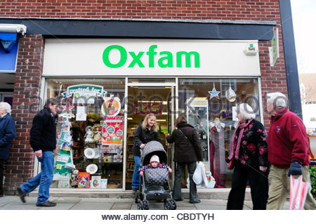 Oxfam shop in Leominster, Herefordshire, UK. - Stock Photo