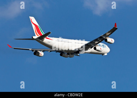 An Airbus A340 of the Sri Lankan airline SriLankan Airlines - Stock Photo