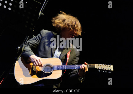 Thurston Moore of Sonic Youth performs in Rome during Demolished thoughts solo tour. - Stock Photo