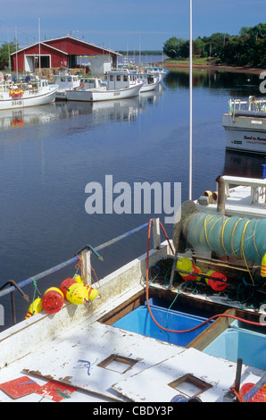 Fishing boats in the port of Murray Harbour on Cape Bear Peninsula, in Kings County, Prince Edward Island, Canada - Stock Photo