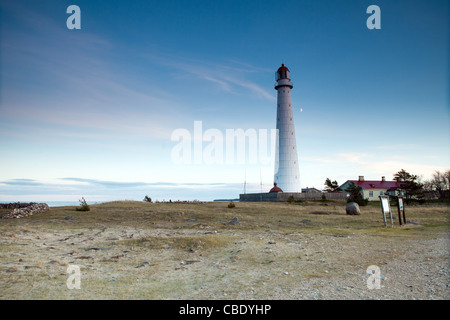 White Metal Lighthouse - Tahkuna, Hiiumaa, Estonia - Stock Photo