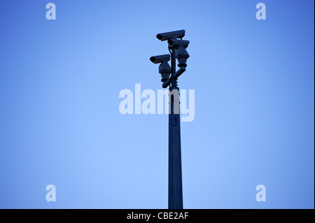 Traffic surveilance cctv cameras - Stock Photo