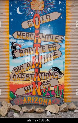 Oatman Arizona Route 66  Mining Town Main Street United States National Highway  American - Stock Photo