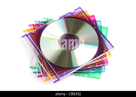 CD or DVD case - Stock Photo
