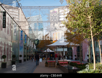 Westfield Shopping Centre, Stratford, East London, UK,  Christmas Decorations. - Stock Photo